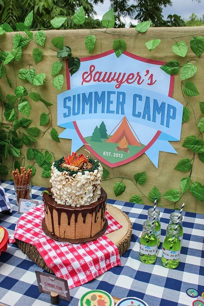 Sawyer S Summer Camp 5th Birthday Adventure Camping Theme Party