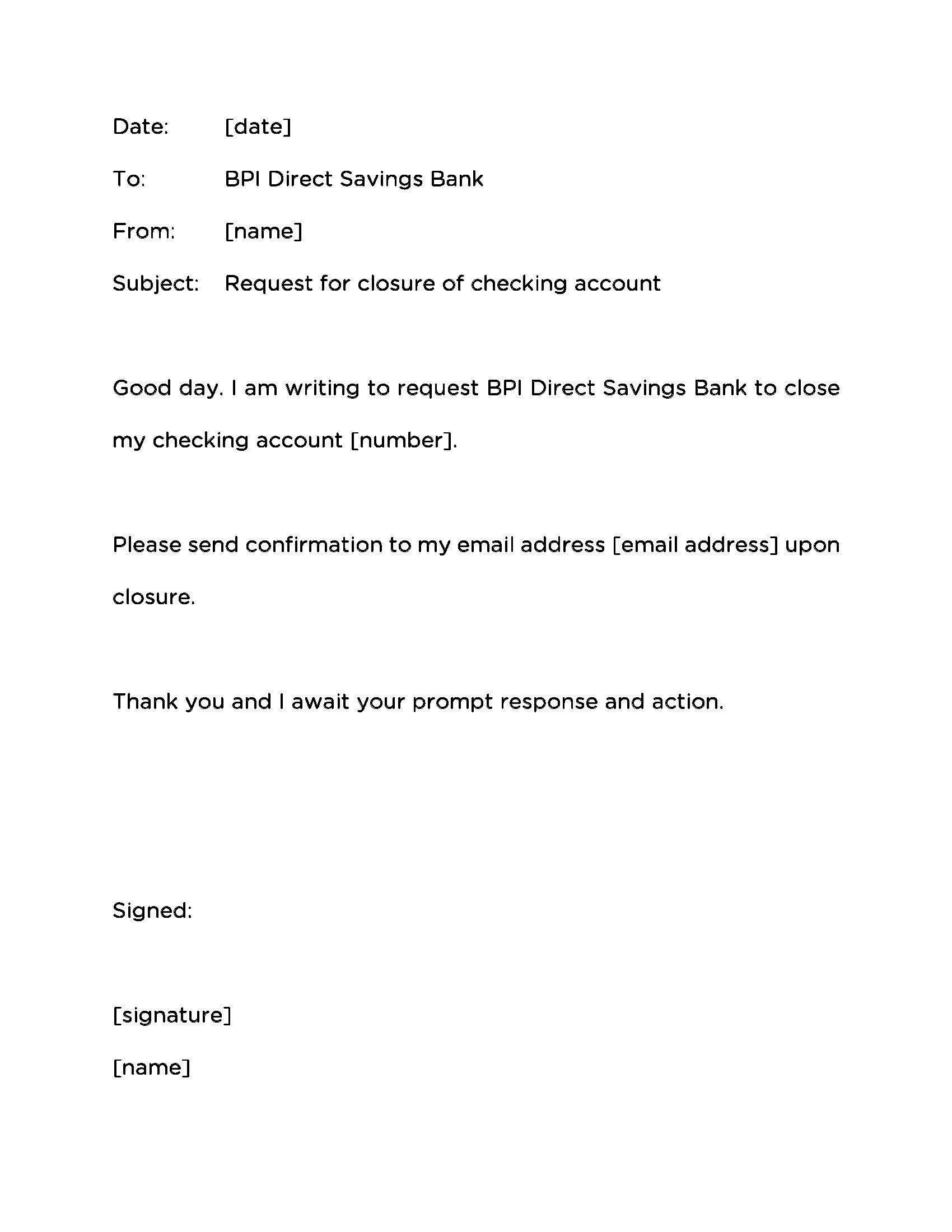 You Can See This Valid Letter Format For Bank Account Cancellation At Http Creativecommunities Co 2017 12 02 Letter For Letter Templates Lettering Accounting