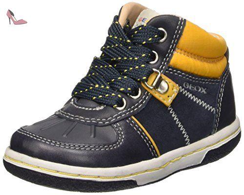 Geox Alonisso C, Sneakers Hautes Garçon, Schwarz (Black/BLUEC0052), 27 EU