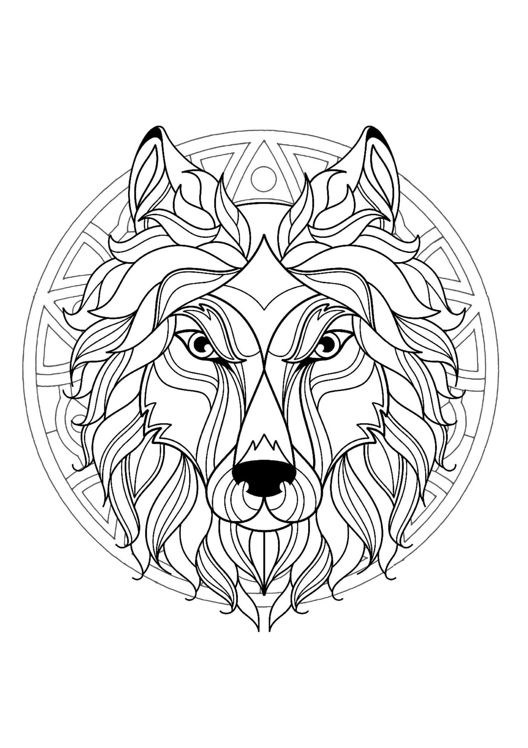 New Mandala Coloring Thevillageanthology Com In 2021 Mandala Coloring Books Lion Coloring Pages Animal Coloring Pages [ 2560 x 1810 Pixel ]