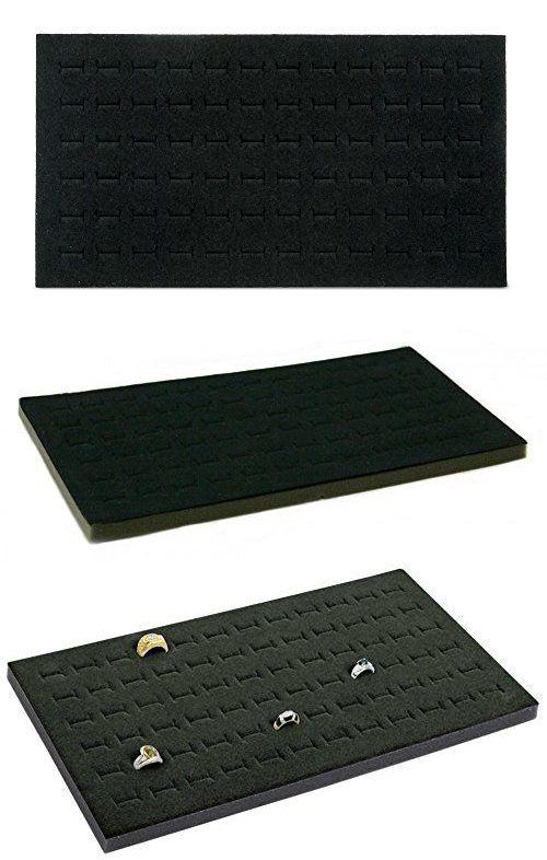 Other Jewelry Organizers 164372 New Black 72 Slot Ring Foam Pad