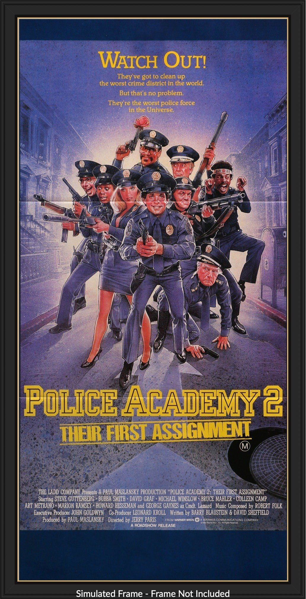 Police Academy 2 Their First Assignment 1985 Police Academy Movie Posters Minimalist Film Posters Vintage