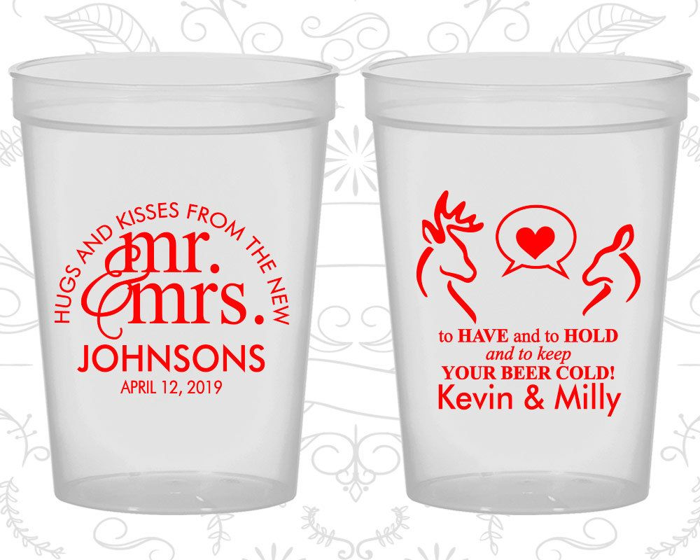 Wedding Plastic Cups, Personalized Cups, Wedding Cups, Personalized ...