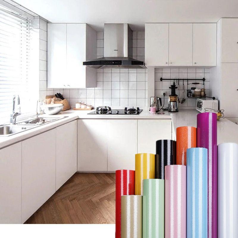 Waterproof Self Adhesive Pvc Vinyl Wallpaper Sticker Roll For Kitchen Furniture Desktop Fridge Wall Modern Kitchen Furniture Vinyl Wallpaper Wallpaper Stickers