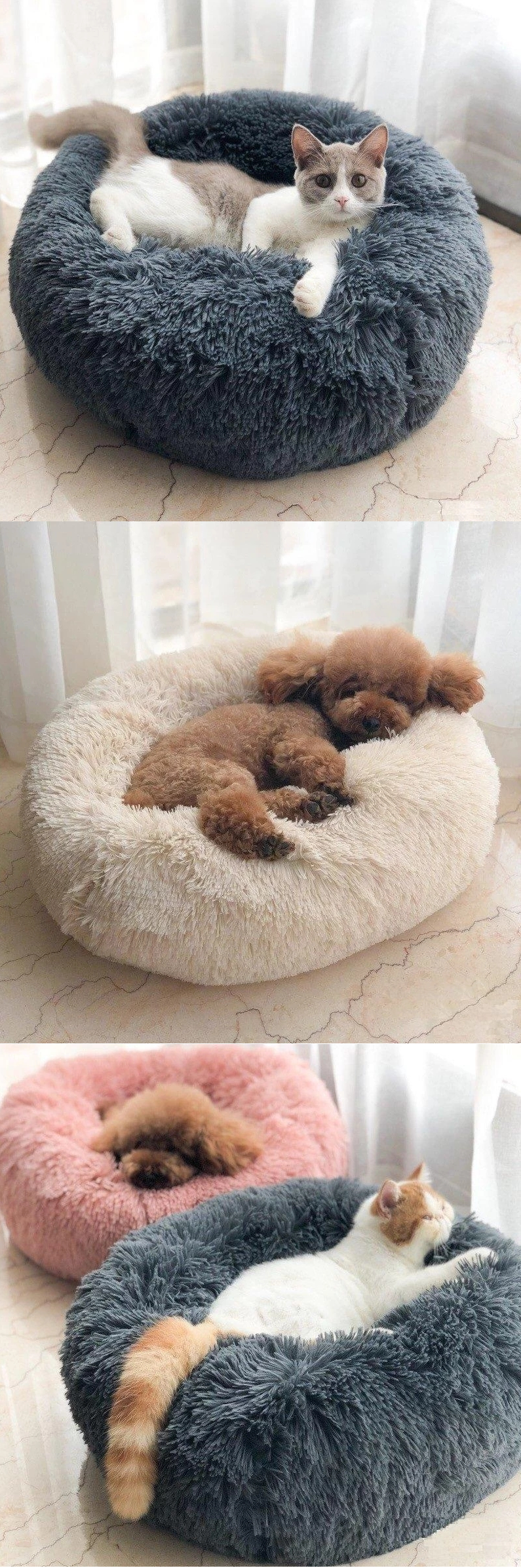 Photo of Long Plush Super Soft Dog Bed