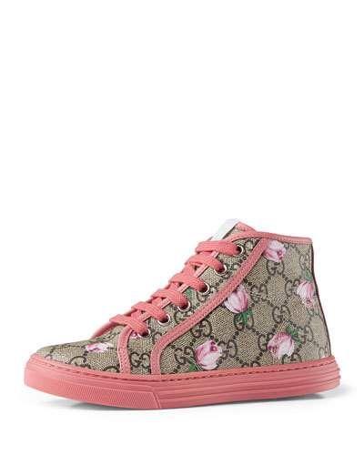 22c303054fd California GG Supreme Printed High-Top Sneaker