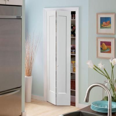 Masonite 36 In X 80 In Lincoln Park 2 Panel Primed White Hollow Core Composite Bi Fold Interior Door 83236 Doors Interior Discount Interior Doors Masonite Interior Doors