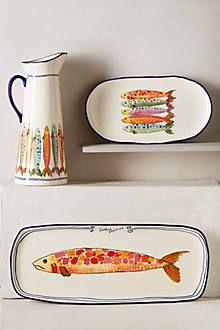Sardina Serveware - DIY inspiration for some whimsical fish dishes & Calligrapher Canape Plate - anthropologie.com // | Home deco ...