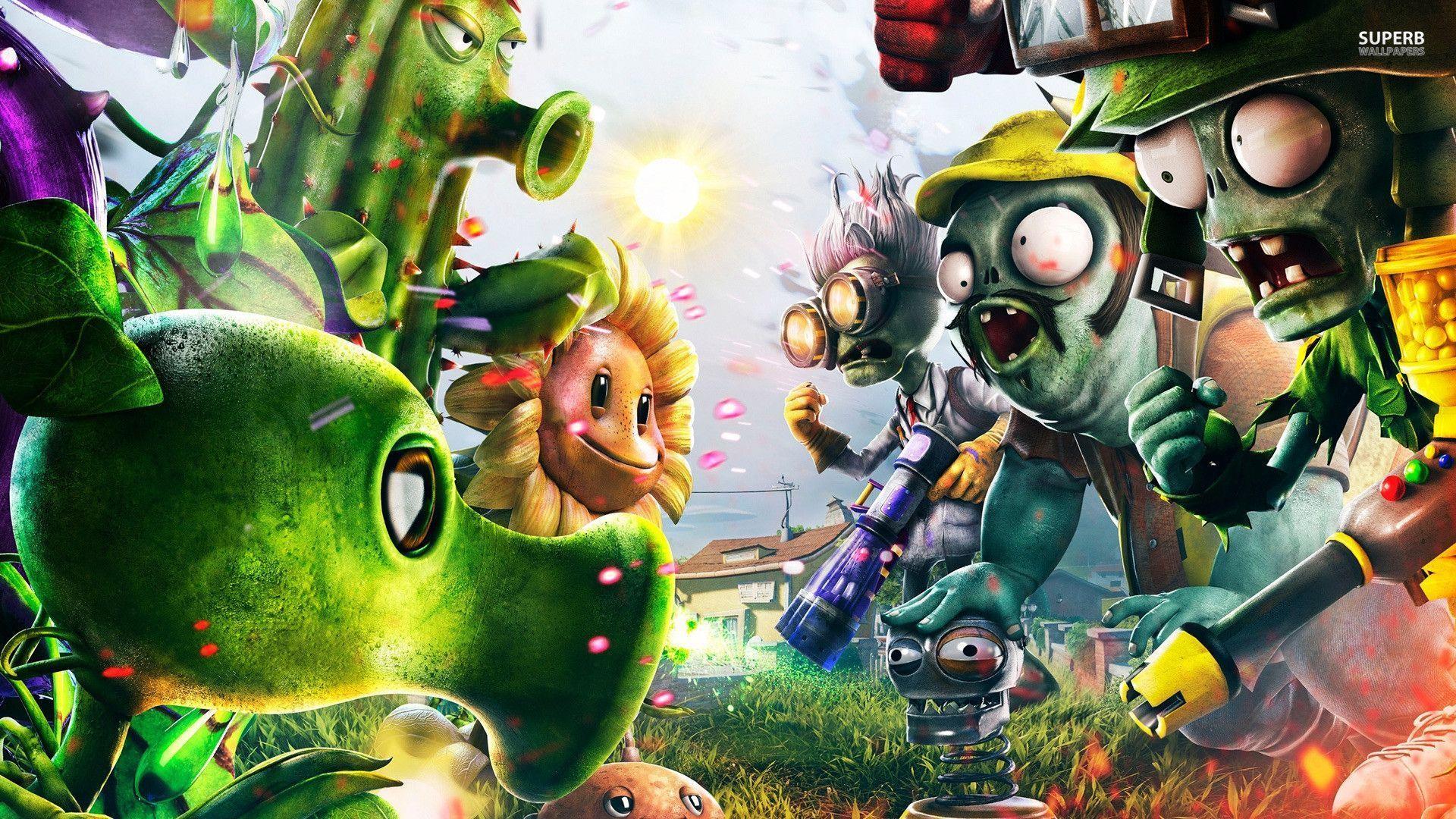 Wallpaper Untangle Plants vs Zombies Garden Warfare Games