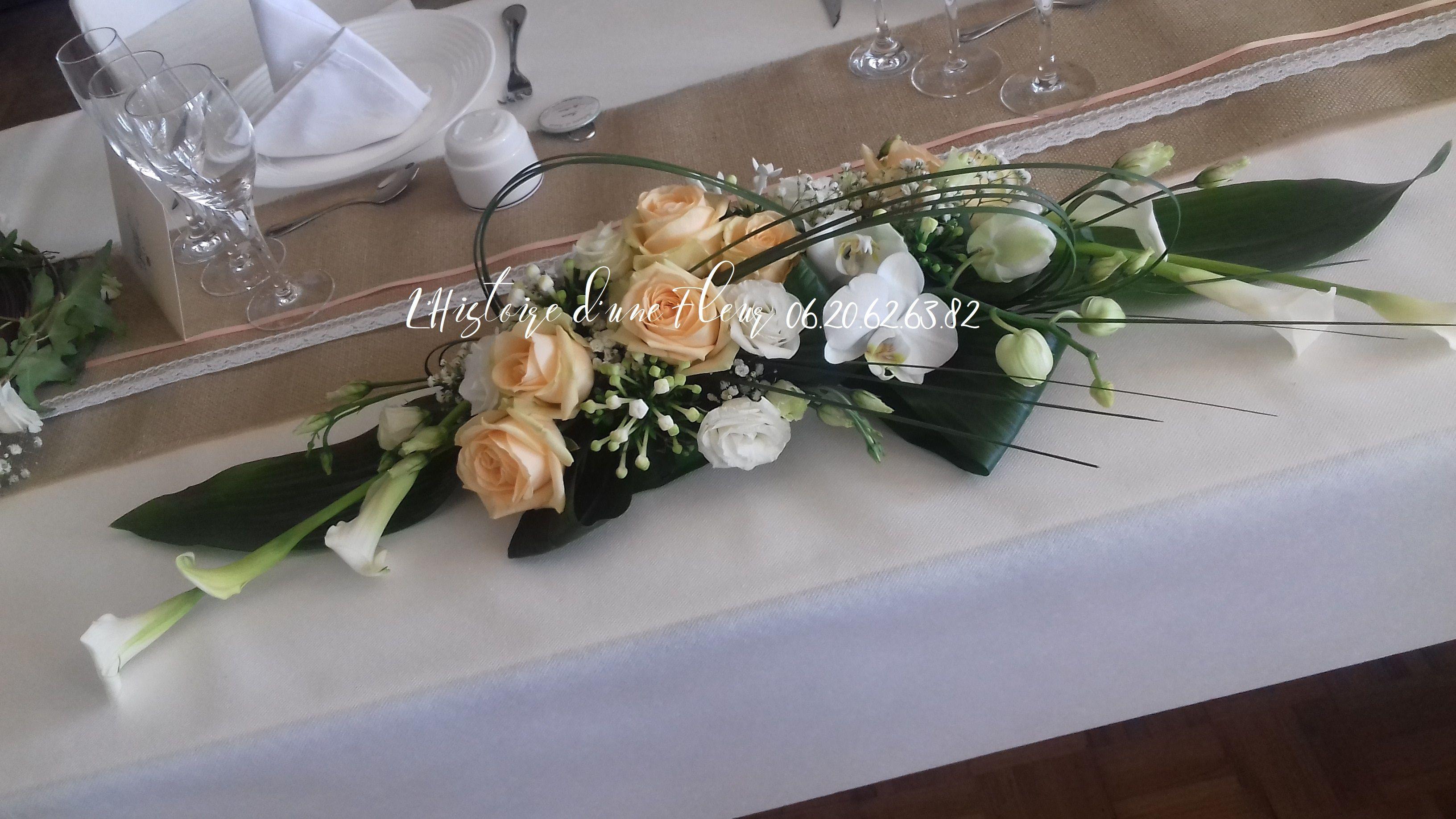Centre De Table Allonge Pour La Table D Honneur Mariage Fleurs