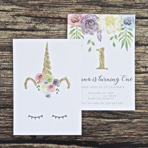 Custom order you unicorn invitation now Perfect for a birthday – Order Party Invitations