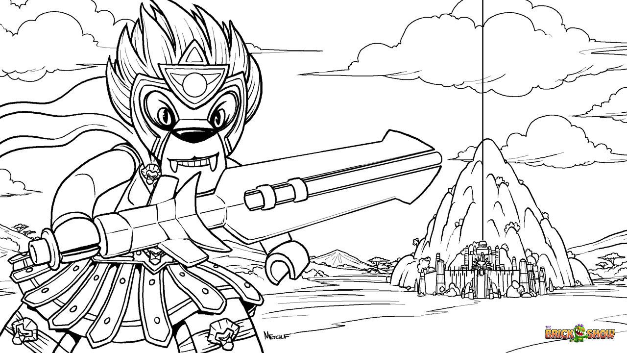 Lego Laval And The Chi Temple Coloring Page Printable Sheet Lego Legends Of Chima Coloring Pages Free Coloring Pages Color