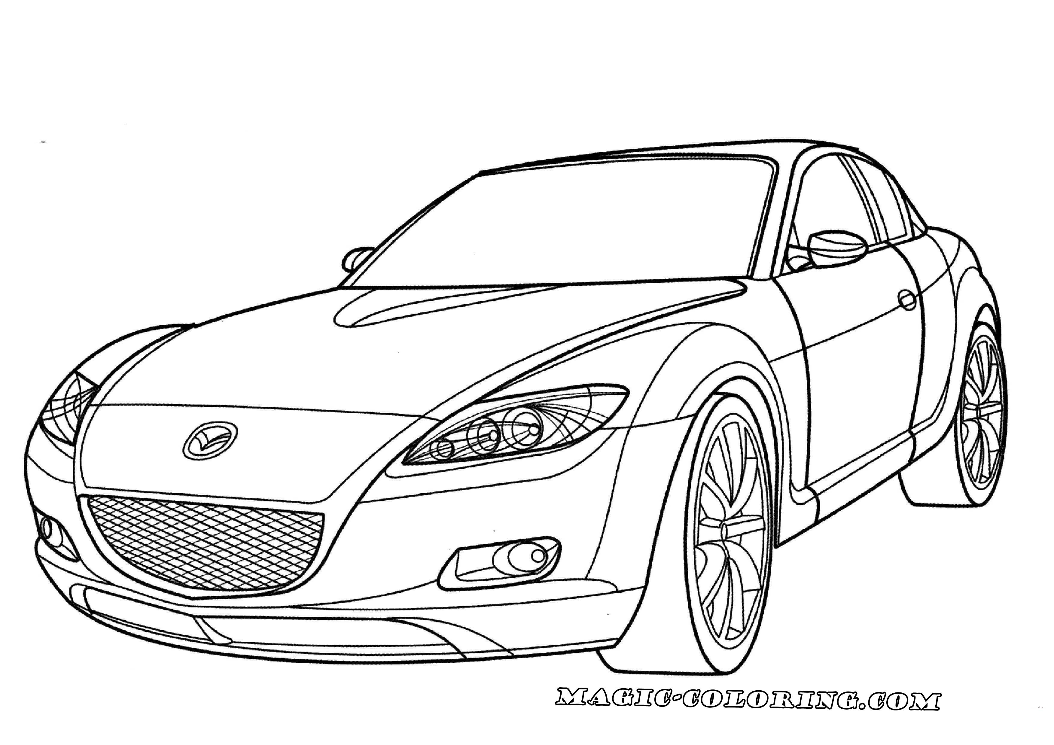 Mazda Rx 8 Coloring Page Sports Coloring Pages Coloring Pages Mazda