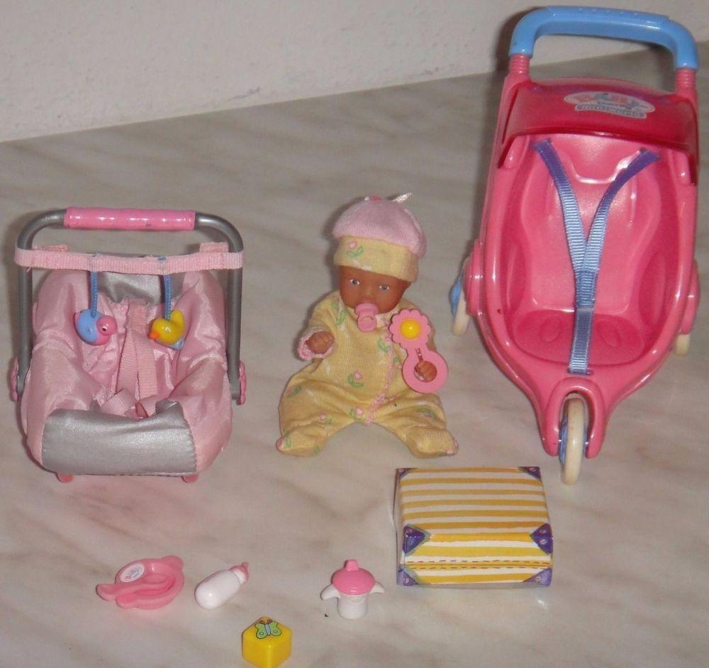 Baby Born Miniworld Puppchen Maxicosi Jogger Zapf Baby Dolls Dollhouse Toys Baby Born