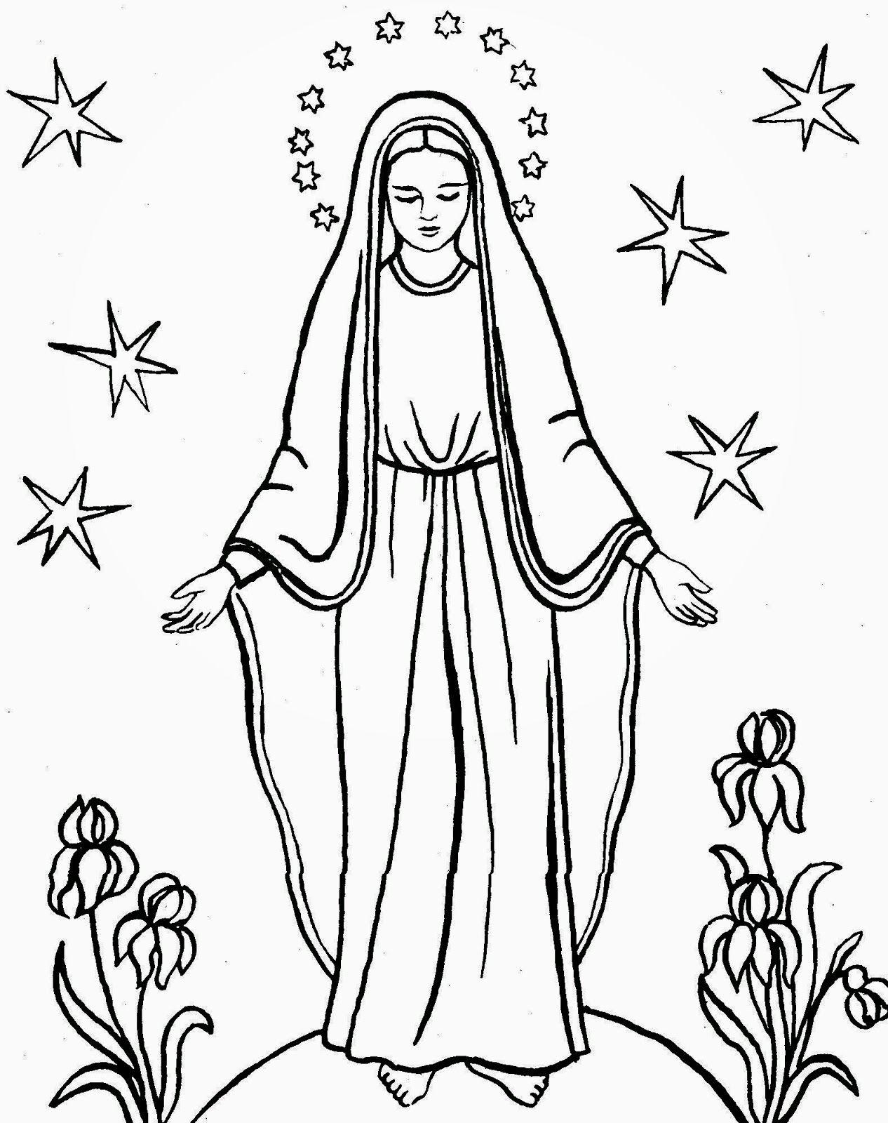 Np Maryja Kolorowanka 15 Jpg 1266 1600 Bible Coloring Pages Catholic Folk Art Bible Coloring