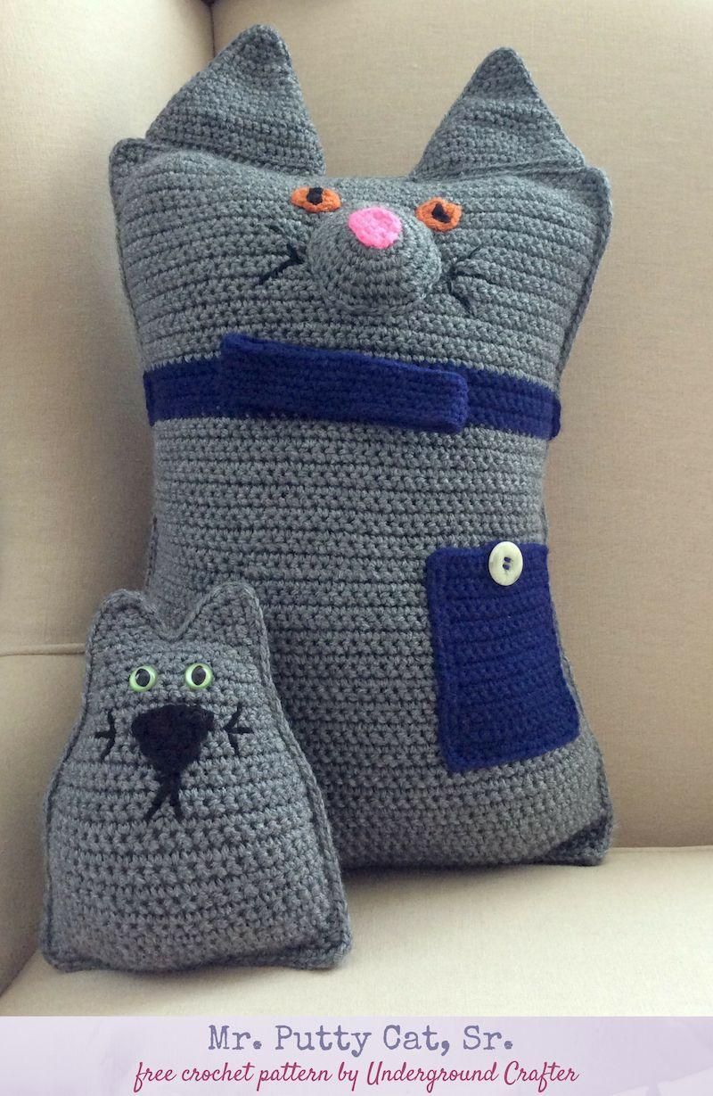Crochet Pattern Mr Putty Cat Sr Chrochet Crochet Patterns