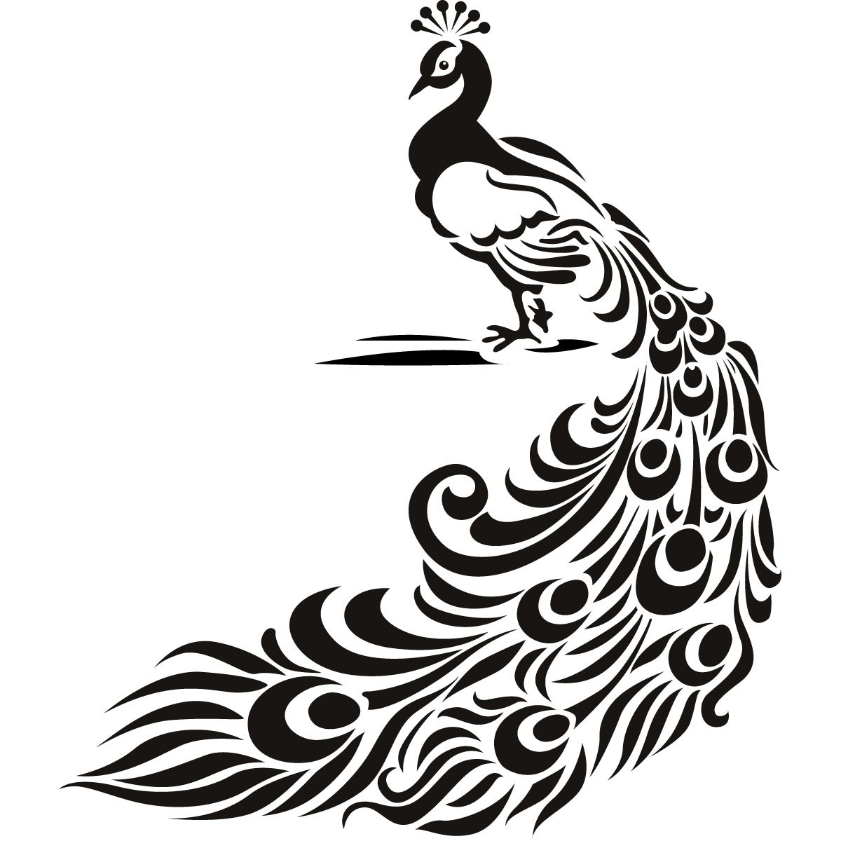 Details About Peacock Bird Animal Wall Art Stickers Wall