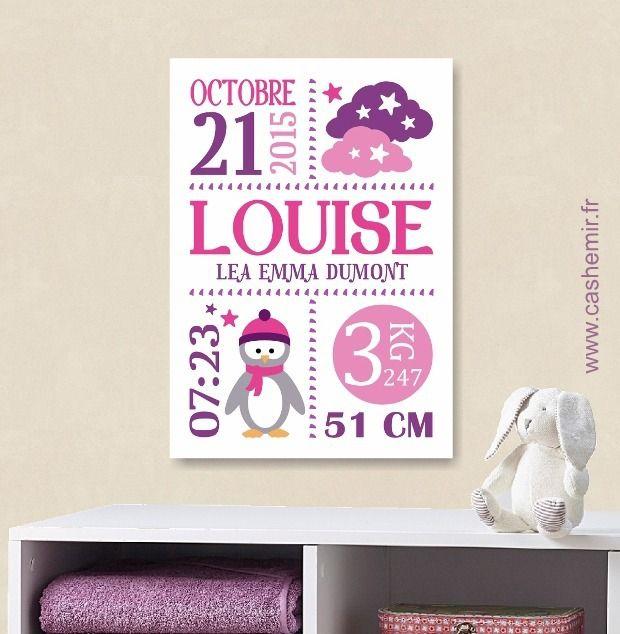 cadeau de naissance personnalis original tableau de naissance d coration murale chambre b b. Black Bedroom Furniture Sets. Home Design Ideas