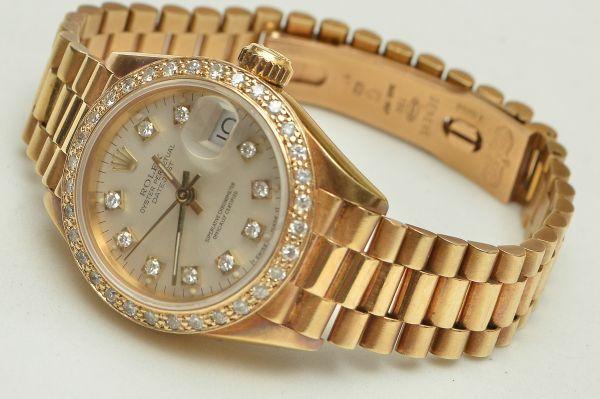 d1d2c09afec Rolex - relógio de pulso feminino em ouro 750 contrastado