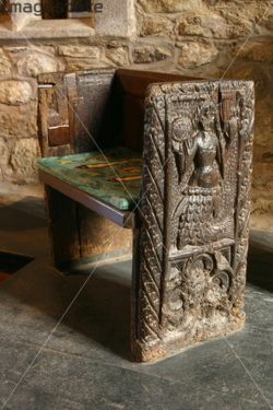 The Mermaid Chair Shower With Arms And Back St Senara S Church Zennor Cornwall Commemorates Tale Of A Who Fell In Love Young Man Was One