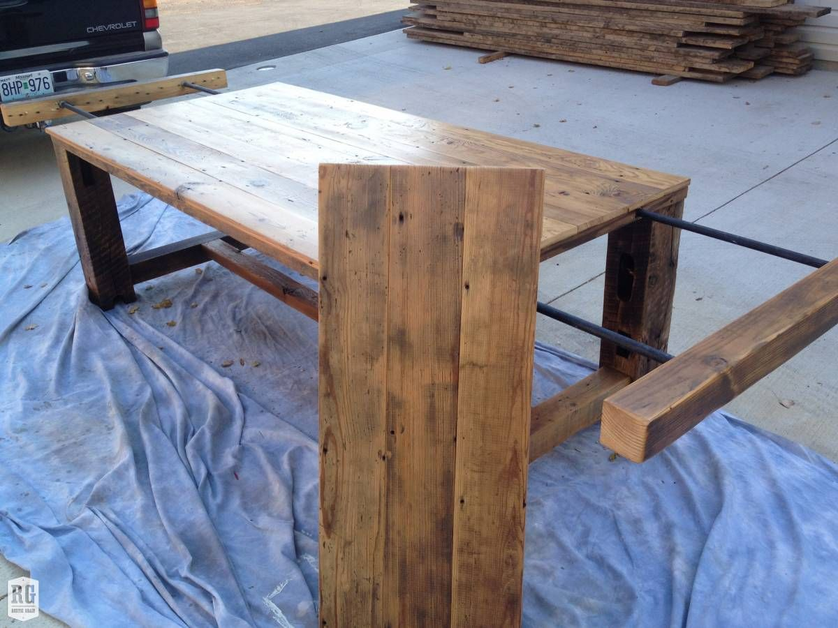 Rustic Extension Table Rustic Grain Dining Table With Leaf