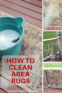 A cheap and effective way to clean area rugs yourself. #rugcleaning #diy