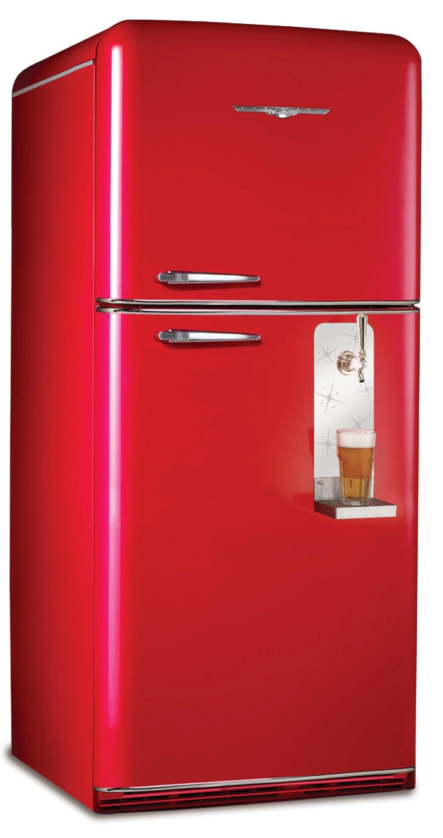 Amazing Modern Fridges Made To Look Like 1950 S Models They Even Have Matching Vintage Stoves Ovens And P Retro Refrigerator Retro Fridge Vintage Appliances