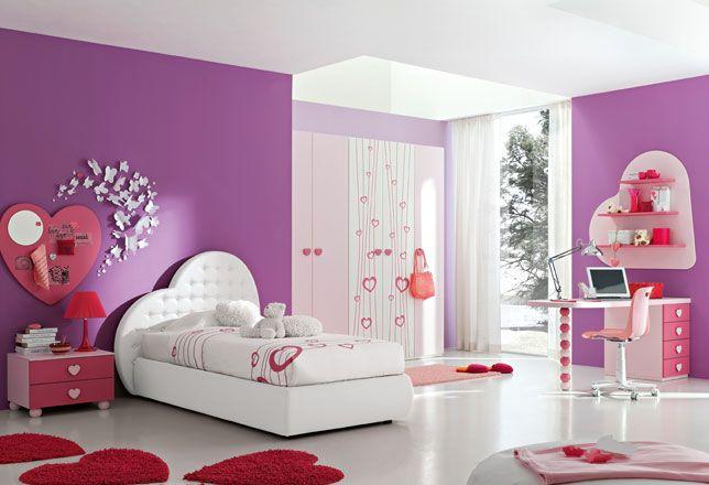 Cameretta Rosa ~ Cameretta bimba a cuore girls bedroom luxurious