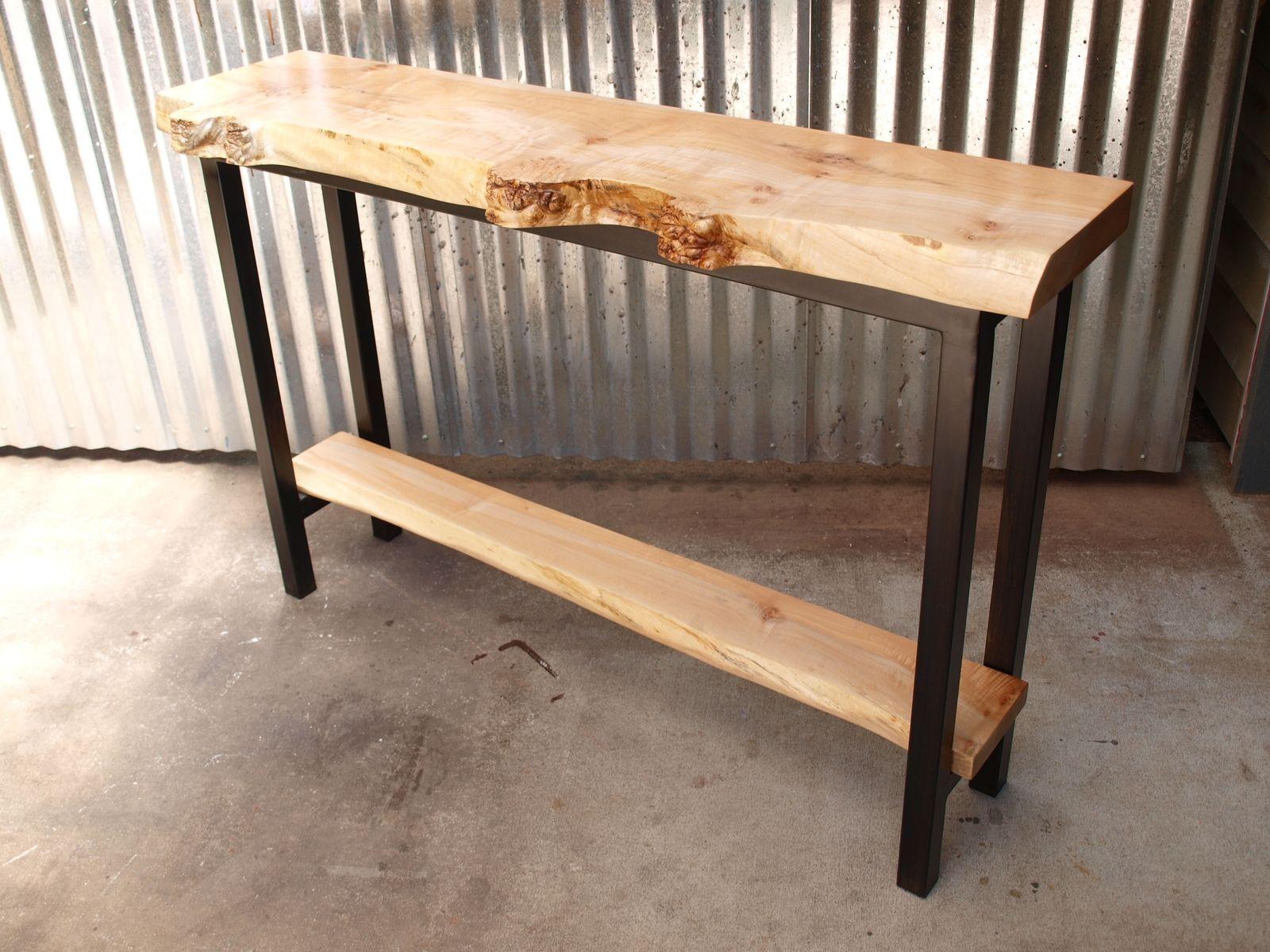 Maple Sofa Table Tiger Maple Wood Sofa Table Early