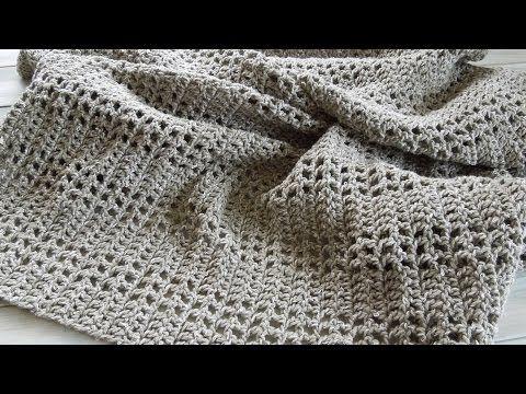 crochet) How To - Crochet an Afghan/Baby Blanket/Throw - Yarn Scrap ...