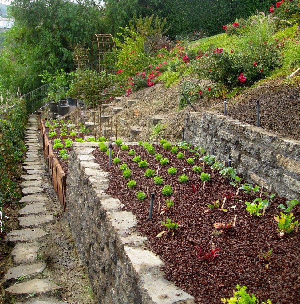 hillside garden ideas landscape