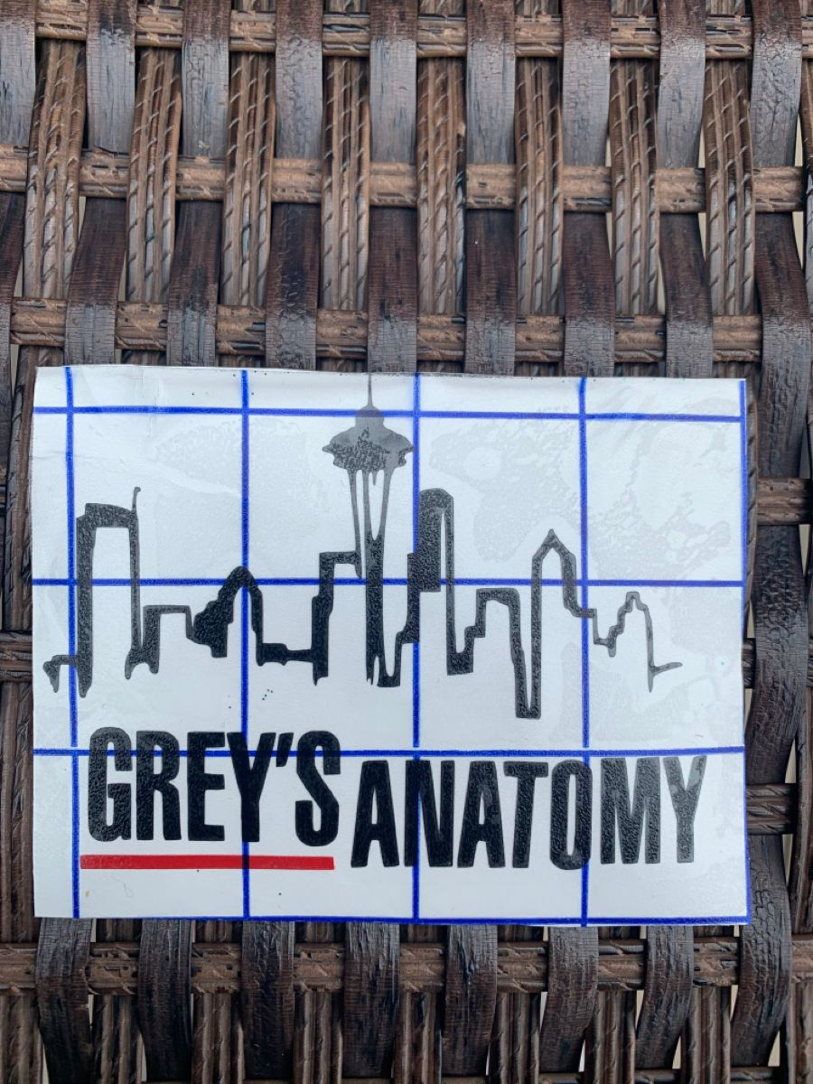 Greys Anatomy Skyline Logo DecalGres Anatomy decalvinyl