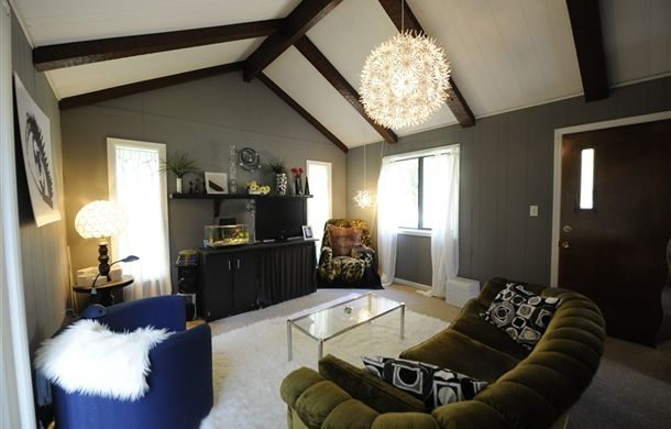 A transformed attic space. I think it's really cool.