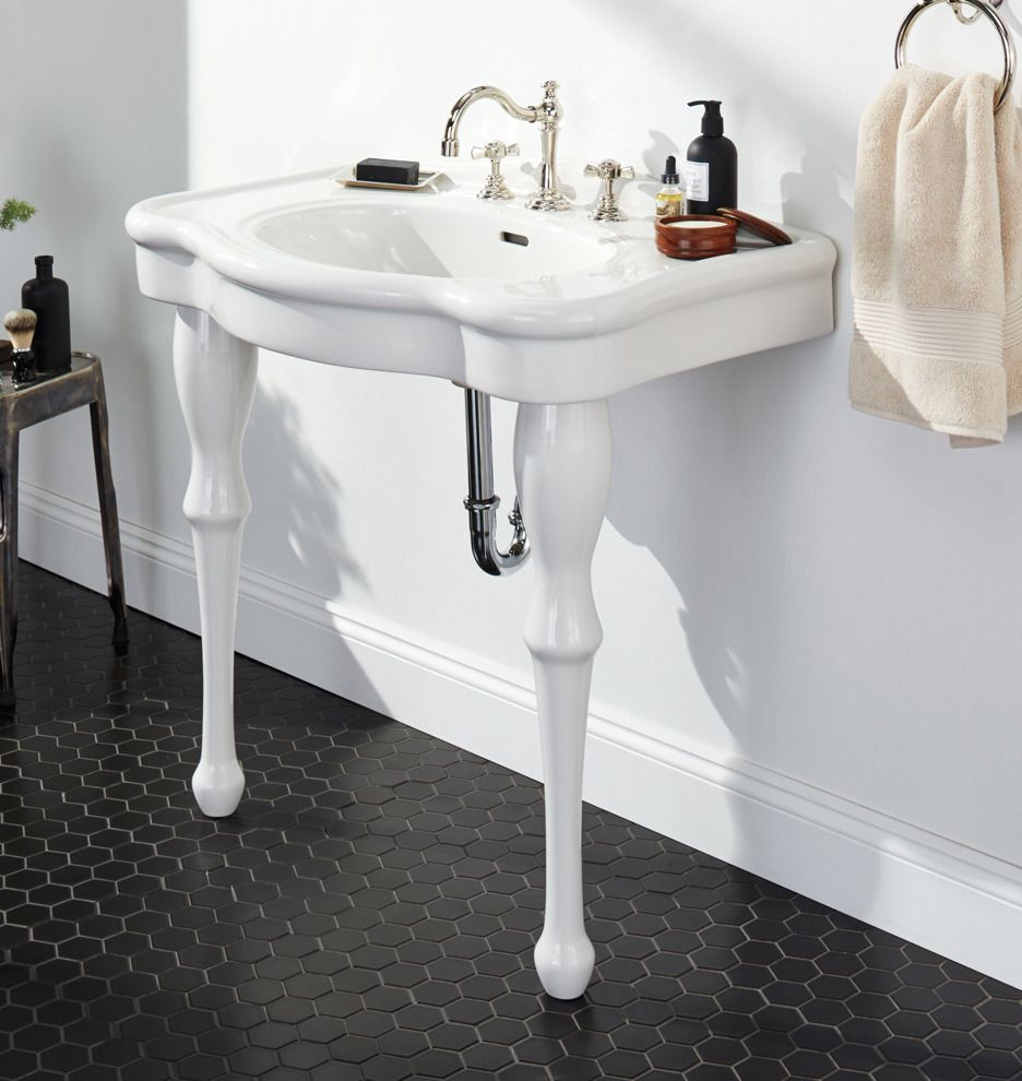 Victorian Pedestal Single Sink Console Rejuvenation Bathroom Design Pinterest Best
