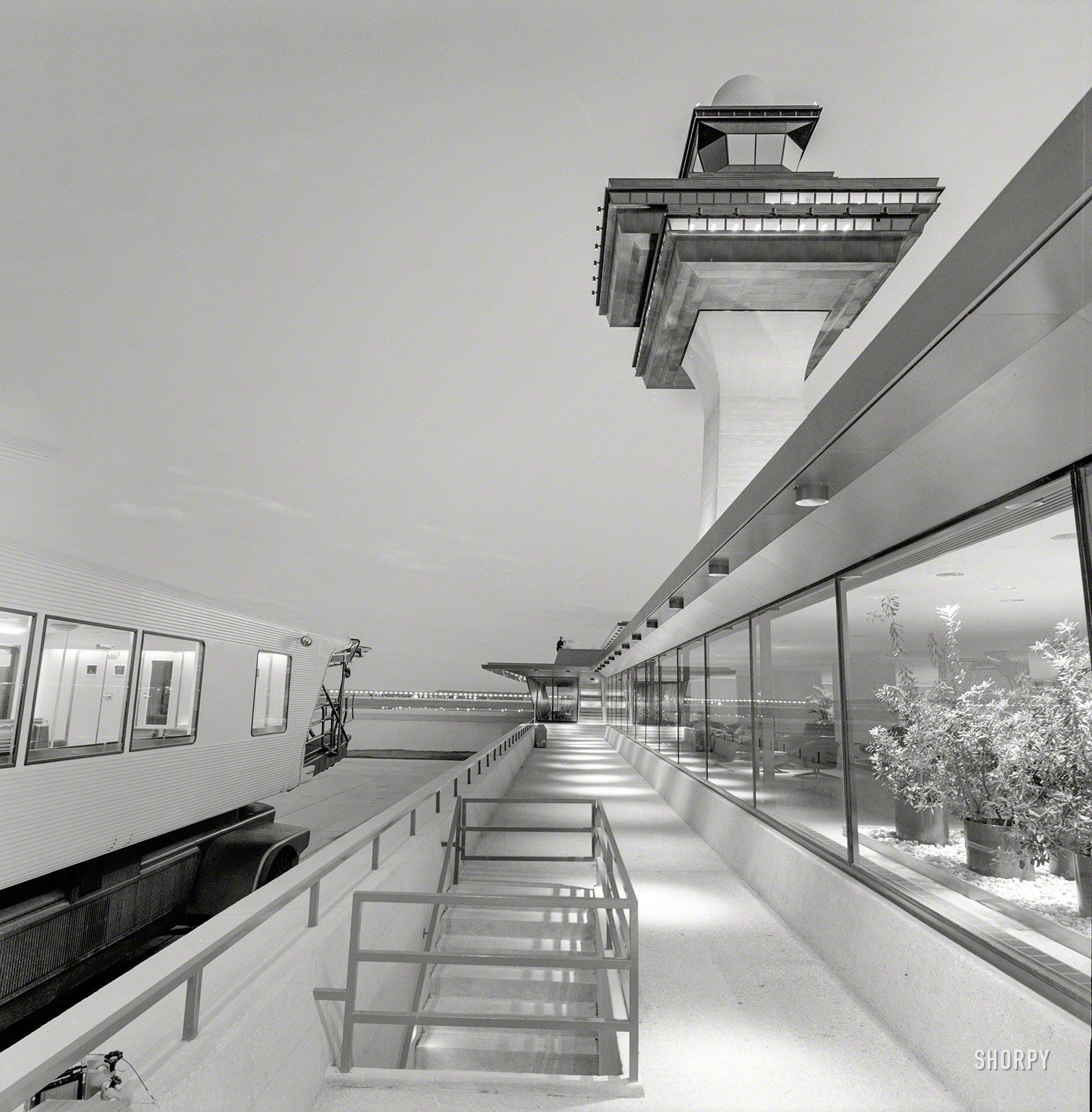 Shorpy Historic Picture Archive The New Frontier 1963 High Resolution Photo Unusual Buildings Dulles International Airport Architecture