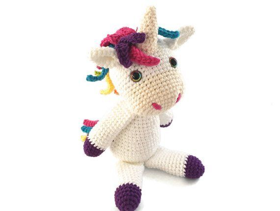 Amigurumi Unicorn Pattern For Crochet Pony, Horse, or Unicorn Toy - Easy Stuffed #horsepattern