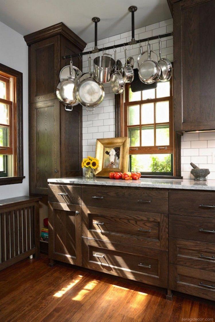 Best Stylish Dark Brown Cabinets Kitchen 20 400 x 300