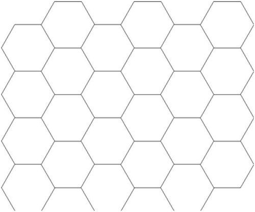 Printable Paper Grids Graphs Octagon Hexagon Music Hexagon Graph