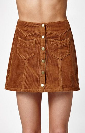 51a9e0b2ea Kendall and Kylie Corduroy Western Button Front Skirt at PacSun.com ...
