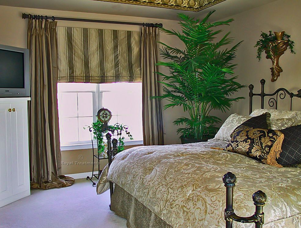 Roman Shades And Curtains Silk Puddle Drapes W Roman Two