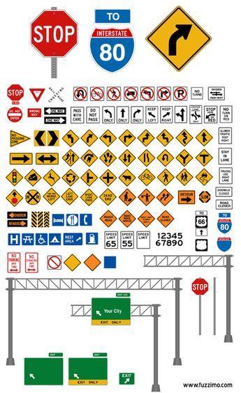 Libre de vectores señales de tráfico (brillante o llano) por fuzzimo - volunteer sign up sheet template