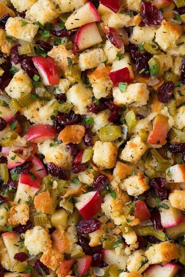 Stuffing (with Apples Cranberries and Rosemary) - Cooking Classy #stuffingrecipes