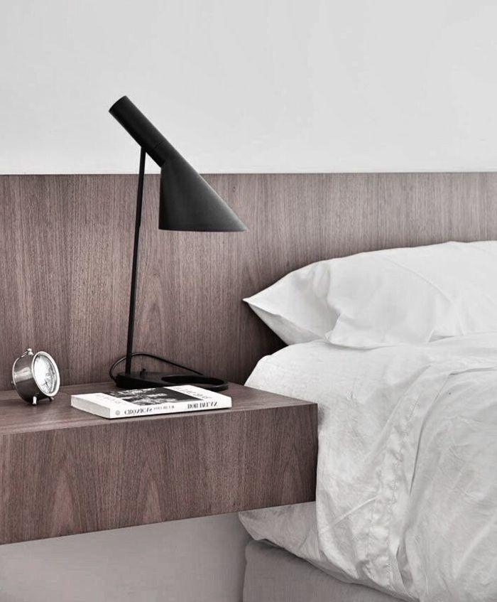 installer une table de nuit suspendue près de son lit - les