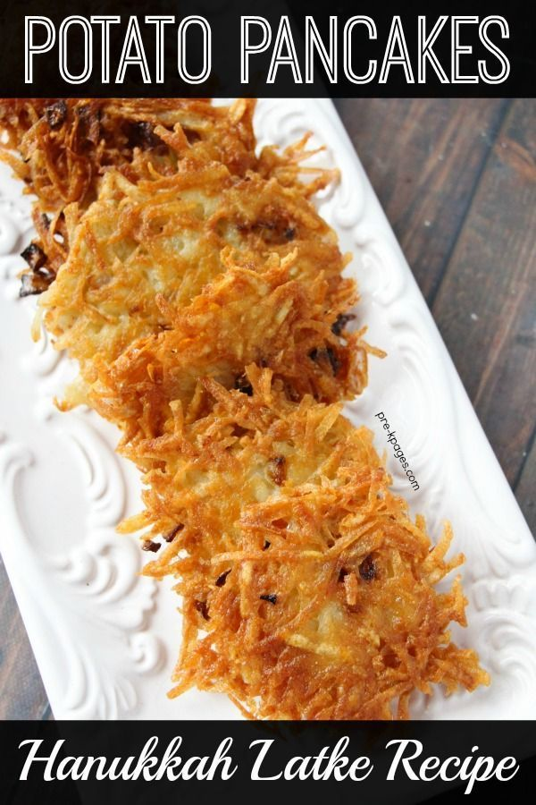 Classroom Recipe: Potato Pancakes - Pre-K Pages  Hanukkah Latke Recipe How to Make Potato Pancakes.