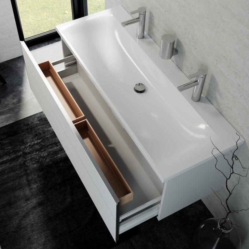 Keuco Royal Reflex Doppelwaschtisch Mit Waschtischunterschrank Und Led Spiegelschrank Front Weiss Hochglanz Korpus Weiss Hochglanz 39605212200 Doppelwaschtisch Waschtischunterschrank Spiegelschrank