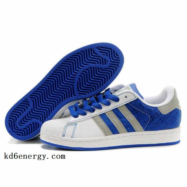 addidas shoes for men shell top | ... Superstar II Shell Toes White Blue
