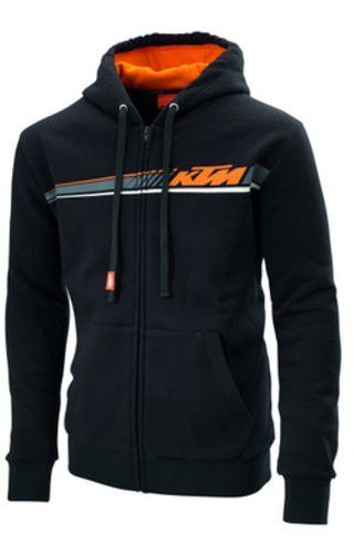 KTM Racing Mens Fleece Pullover Hoodie Sweatshirts Black