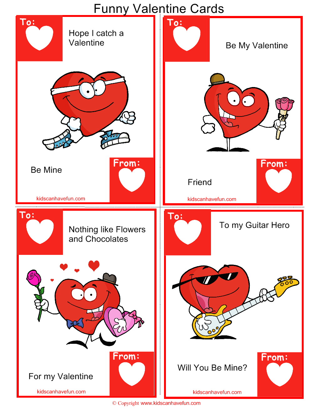 Funny Heart Valentine Cards Valentines Day Ideas Candy Grams