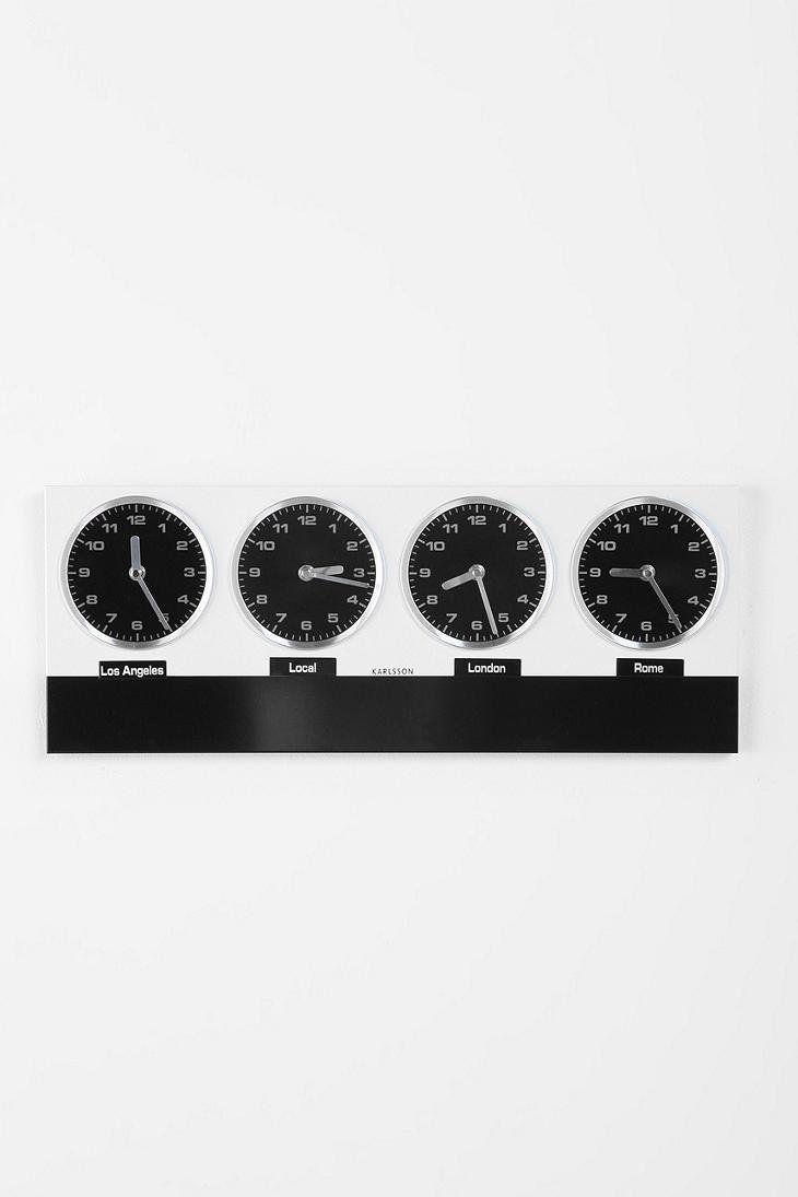 Time Zone Wall Clock Diy Wall Clock Urban Outfitters Diy Clock Wall Wall Clock