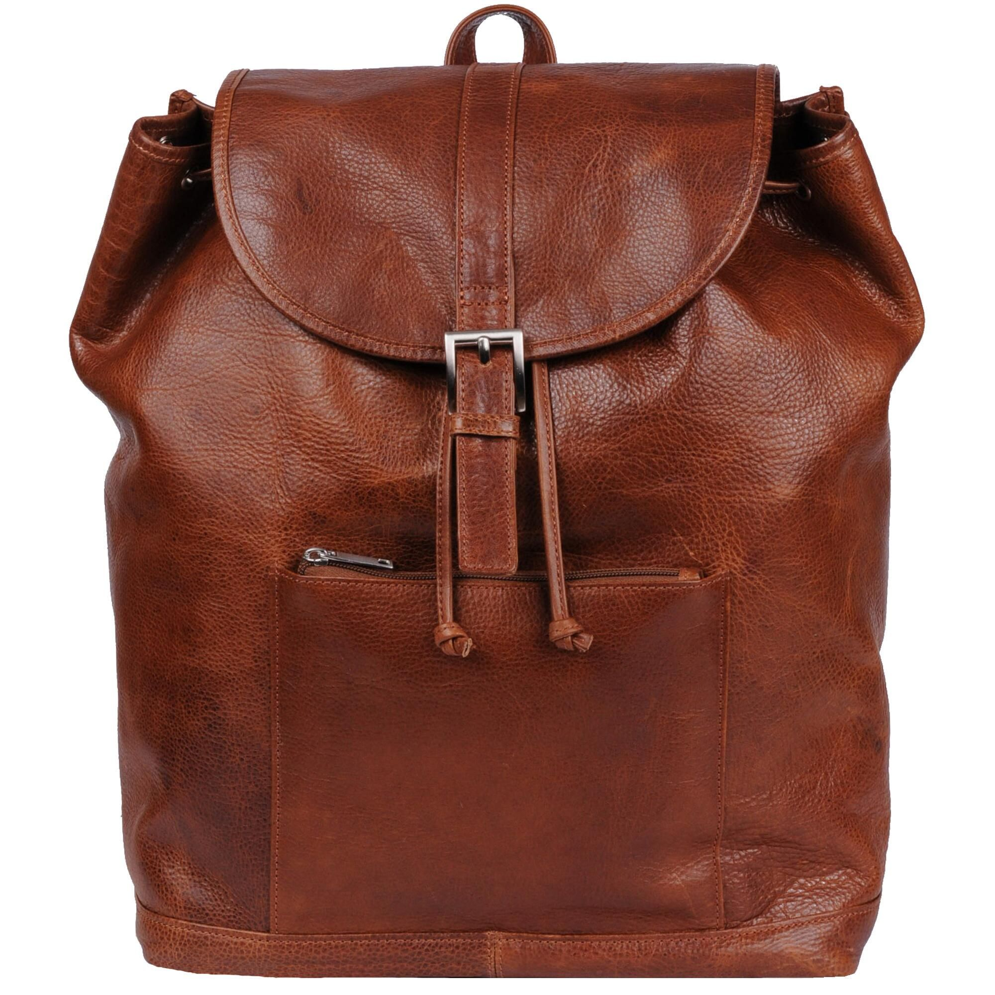 9d880c232cde Wilsons Leather Rugged Leather Backpack